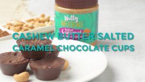 Coupes de chocolat au caramel salé au beurre de noix