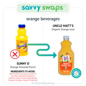 [Savvy Swaps] Boissons à l'orange