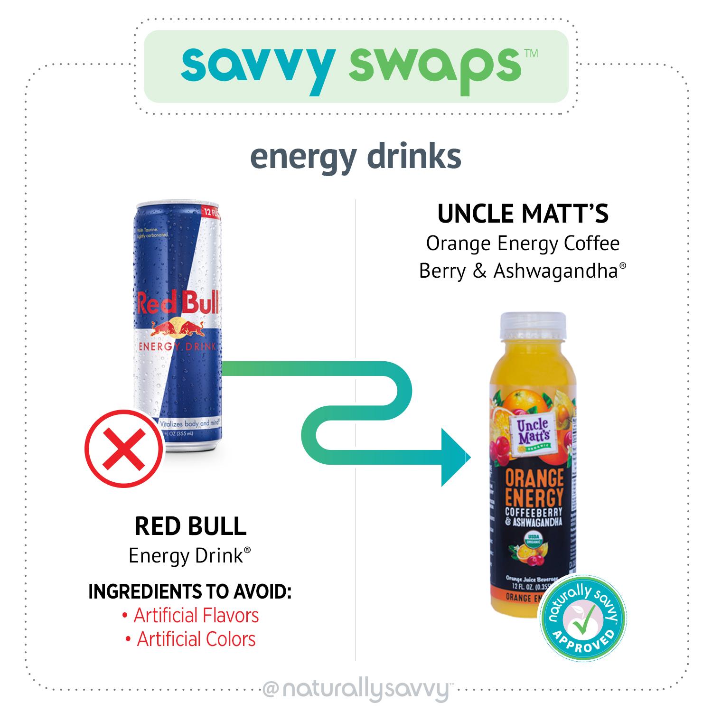 Savvy Swap Orange Energy de Red Bull oncle Matt