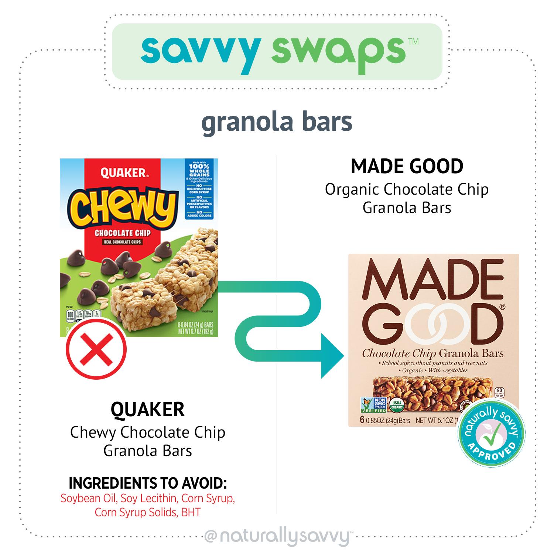 Barres granola savantes et échangeables